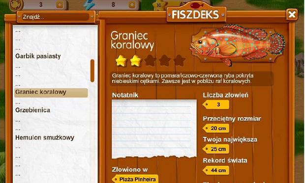 Kompletowanie FiszDeku w grze Fishao